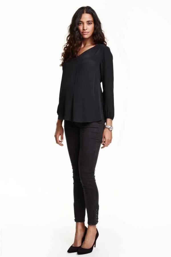 moda-de-navidad-para-embarazadas-pantalones-negros