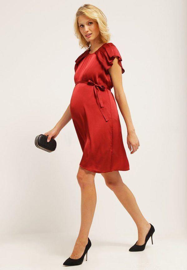 moda-de-navidad-para-embarazadas-vestidos-de-raso