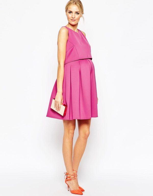 moda-de-navidad-para-embarazadas-vestidos-rosa