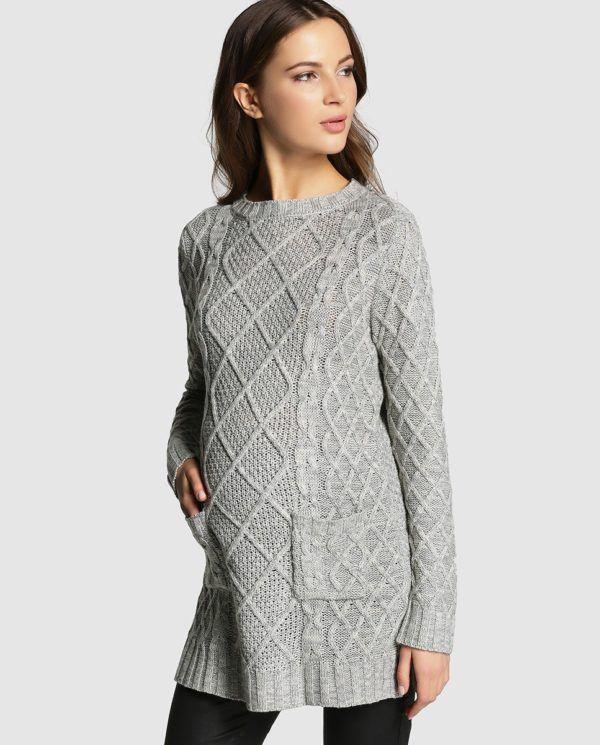 moda-para-embarazadas-en-navidad-2015-jersey-gris-el-corte-ingles