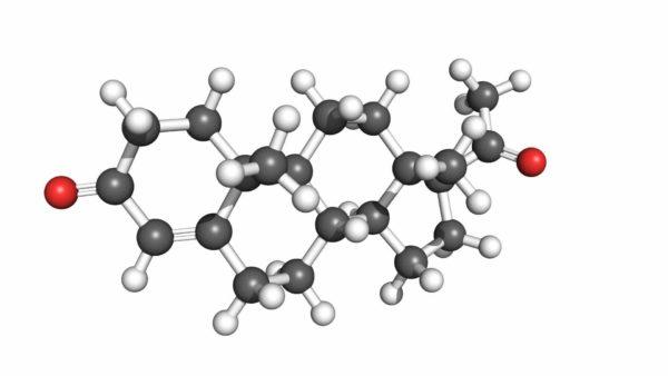 Molécula de Progesterona