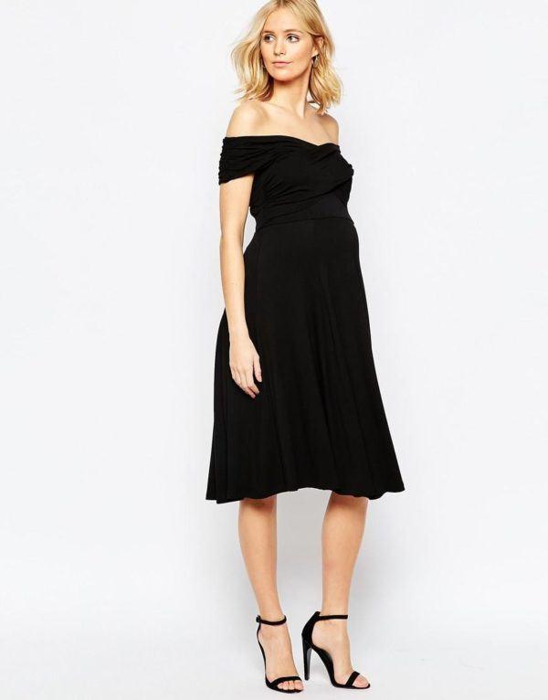 ropa-embarazada-navidad-2015-vestido-negro-asos