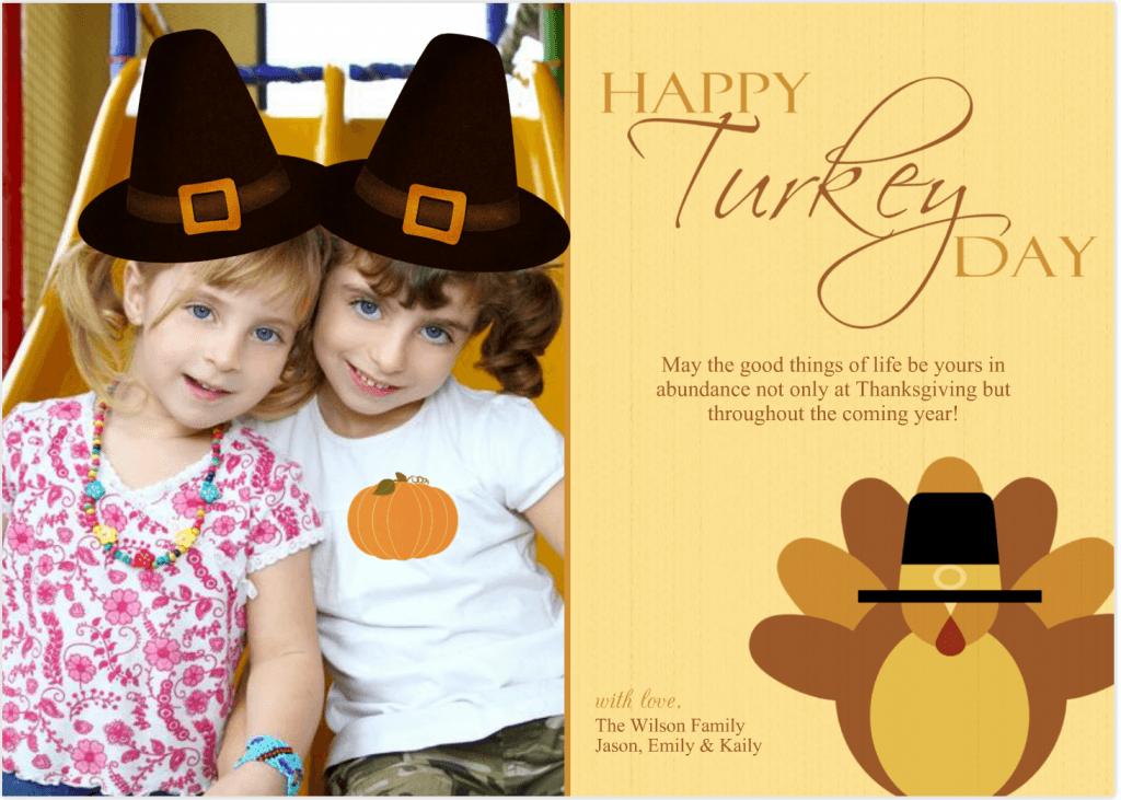 tarjetas-divertidas-de-accion-de-gracias-para-ninos-thanksgiving-day-con-foto-de-niños