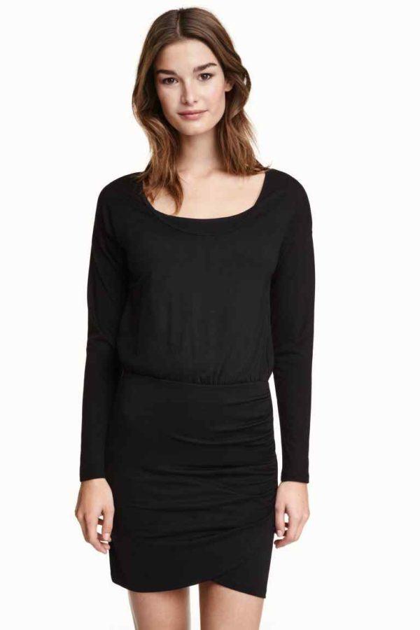 vestidos-de-fiesta-2016-moda-embarazadas-vestido-negro-h&m