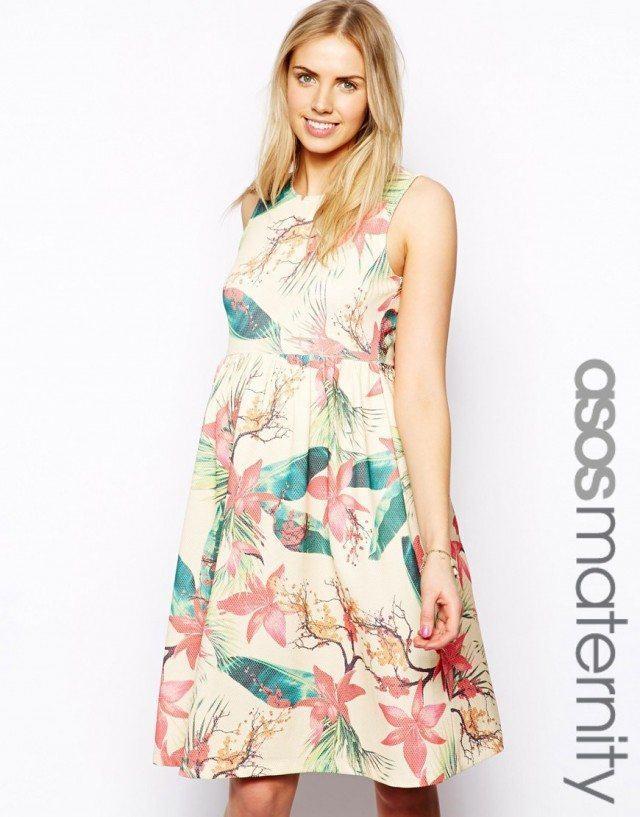 vestidos-de-fiesta-dia-y-noche-para-mujeres-embarazadas-2014-vestido-dia-flores