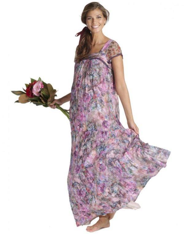 vestidos-de-fiesta-dia-y-noche-para-mujeres-embarazadas-2015-vestido-de-mitmat-mama-estampado-floral