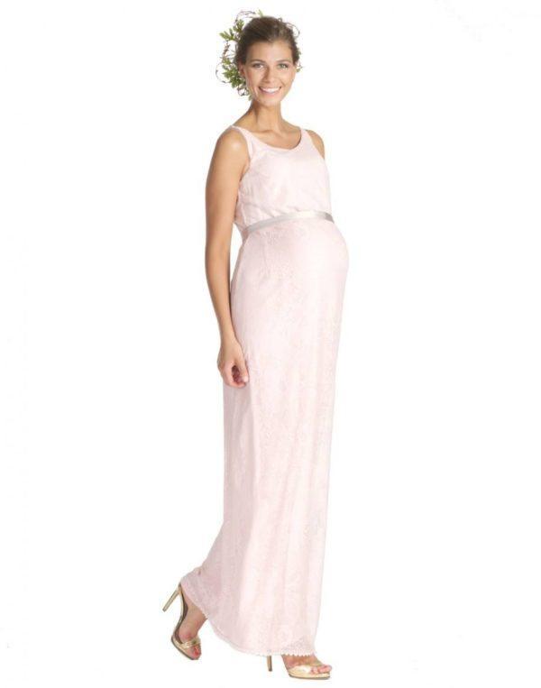 vestidos-de-fiesta-dia-y-noche-para-mujeres-embarazadas-2015-vestido-de-mitmat-mama-largo-rosa
