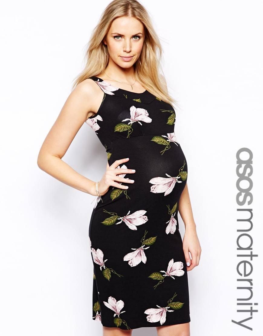 vestidos-de-fiesta-para-embarazadas-2014-modelo-flores-ajustados-asos