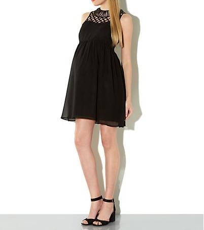vestidos-de-fiesta-para-embarazadas-2014-modelo-negro-new-look