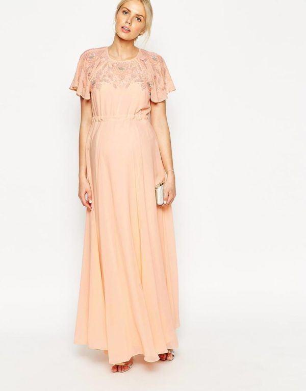 vestidos-de-fiesta-para-embarazadas-otoño-invierno-2015-2016-color-salmon