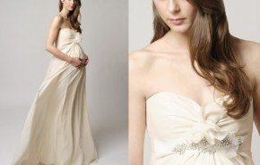 Vestidos de novias embarazadas primavera verano 2014