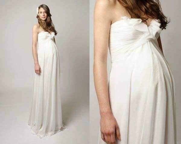 vestidos-de-novia-para-embarazadas-otoño-invierno-2017-volantes-en-el-escote