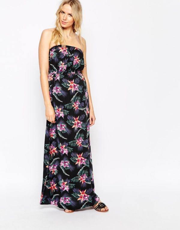 vestidos-embarazadas-2016-asos-modelo-largo-con-flores