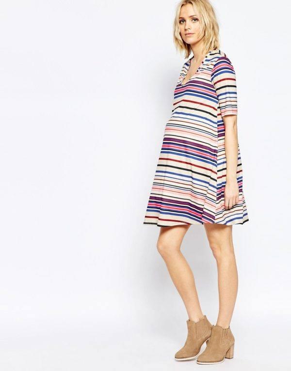 vestidos-embarazadas-2016-asos-modelo-rayado-colores