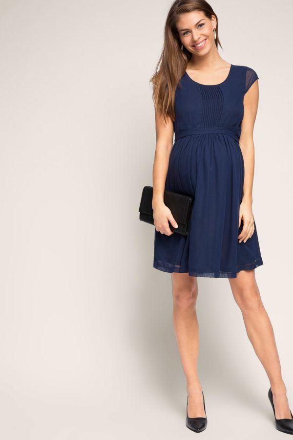 vestidos-para-embarazadas 2016-esprit-color-azul