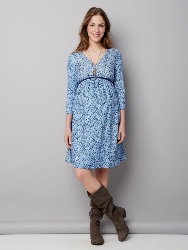 vestidos-para-embarazadas 2016-vertbaudet-vestido-de-flores