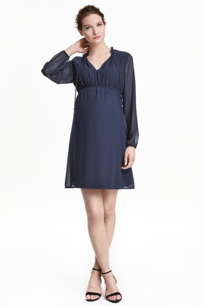 vestidos-para-embarazadas-como-invitada-de-boda-otoño-invierno-2017-mangas-gasa