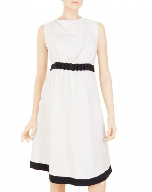 Modelo de vestidos blanco y negro