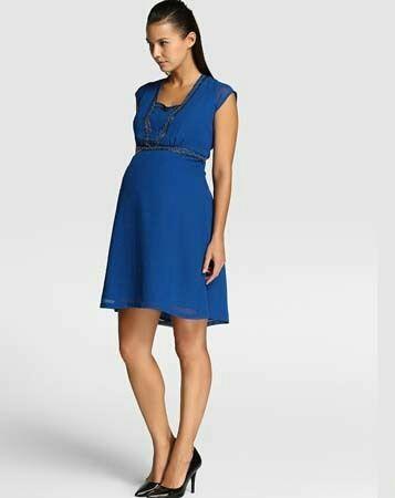 vestidos-para-embarazadas-otoño-invierno-2017-azul