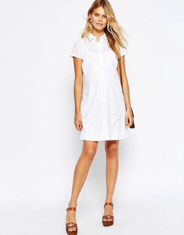 vestidos-para-embarazadas-otoño-invierno-2017-blanco-camisero