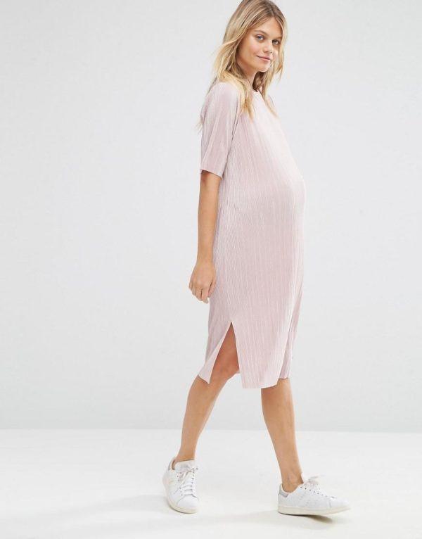 vestidos-para-embarazadas-otoño-invierno-2017-rosa-palo