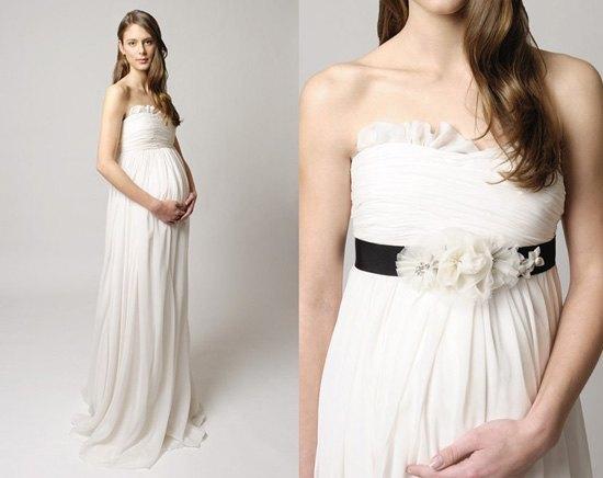 vestidos-para-novia-embarazadas-primavera-verano-2014-tina-mak-vestido-cintura-negro
