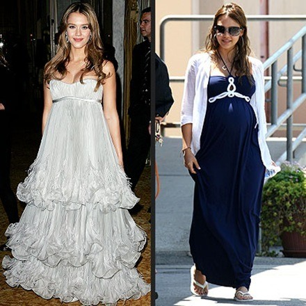 vestidos de fiesta elegantes de famosas embarazadas 8
